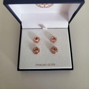 Set of 2 sterling silver earrings NIB